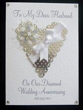 Wedding Anniversary Card Personalised Wife/Husband/Mum & Dad/Nan/Grandad/Friends