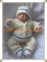 Honeydropdesigns * Aran Pram suit * PAPER KNITTING PATTERN * Baby/Reborn