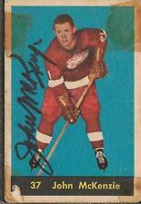 John McKenzie 1960 Parkhurst Autograph RC #37 Red Wings