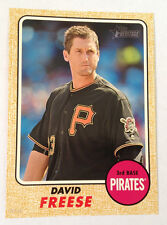 2017 Topps Heritage 5x7 Gold (#/10 Made) DAVID FREESE Pirates #161