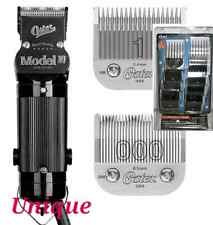 Oster Model 10 Hair Clipper & 000 & 1 Blades with 10 Attachment Combs oster