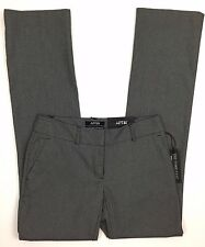 Apt 9 Torie Dress Pants Sz 2 Gray Herringbone Modern Fit Straight Leg Mid Rise
