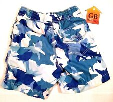 S Size (6-7) Youth Boys Swim Shorts Trunks G-86 Surf brand Blue color -434-