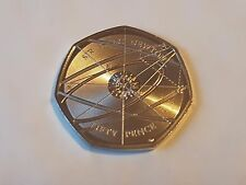 2017 Sir Isaac Newton Fifty Pence Coin 50p BU Uncirculated Split From Set