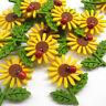 20/100PCS Felt Sunflower Bow W/ Ladybug Appliques Wedding Decor Bulk Lots