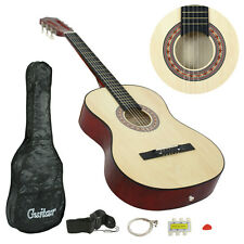 "38"" beginner Acoustic Guiter Package Gig Bag Strap Pitch Pipe Pick Extra String"