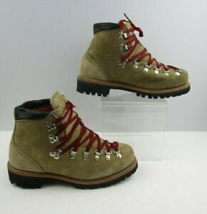 Men's Brown / Red Leather Lace Up Work Boots Size : 7 D