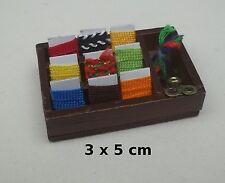boite à couture garni, miniature, maison de poupée,vitrine,couture *CL3