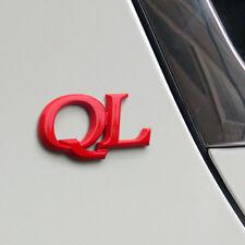 3D QL Emblem Rose Red Front Trunk Badge (Fits: KIA Sportage 2016)