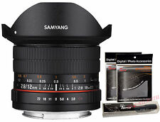 Samyang 12mm F2.8 ED AS NCS FISH-EYE Full Frame Lens for Nikon AE Version + GIFT