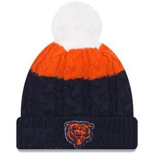 Chicago Bears New Era Women's Alternate Logo Layered Up 2 Cuffed Knit Hat with P