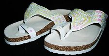 Womens Shoes Pair Sandals Flip Flops Rubber Sole Sequened Strap Sassy S6465 8New
