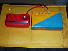 Auritone Vintage Transistor AM  Radio, 6QA12, RARE Australian Co. Tested, 9 Volt