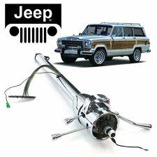 """63-83 Jeep Wagoneer Chrome Tilt Steering Column Shift 33"""" Gladiator Cherokee SJ"""