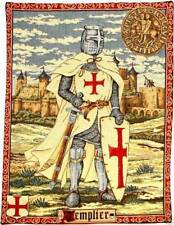"TEMPLIER KNIGHTS TEMPLAR 19 X 23 INCH WALL TAPESTRY, FINISHED SIZE 18"" X 22"""