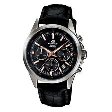 Casio Edifice EFR-527L-1A Genuine Leather Band Analog Chronograph Men's Watch