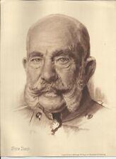 Nr 33063 Druck  Kaiser Franz Josef  von Österreich  21,5 x 29,5 cm