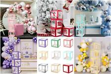 A-Z Letter Cube Wedding Baby Shower Balloon Box Transparent Birthday Party Decor