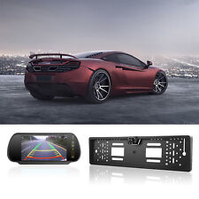 Funk 170° IR LCD Rückfahrkamera kennzeichen kabellos Nummernschild Einparkhilfe