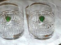 Waterford Double Old Fashioned Crystal Tumblers Set of 2 - Brand New with Seal
