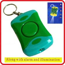 PERSONAL PANIC ANTI-LADYKILLER RAPE ROB MEDICAL EMERGENCE SIREN ALARM-90DB LIGHT