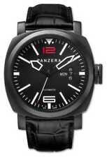 Relojes de pulsera automático de cuero de día y fecha