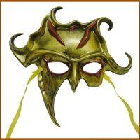 Warrior Roman Greek Silver Gold Sun God Venetian Masquerade Men's Half Face Mask