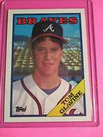 1988 Topps Tom Glavine ROOKIE RC Atlanta Braves HOF NmMt SHARP!