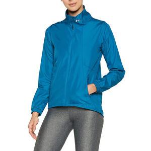 Under Armour Running Jacket Ladies Sports Top International UA Blue Run XS