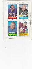 1969 Topps football 4-in-1 Lindsey, Nitschke, Vogel, Harris