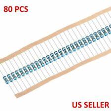 14w 25 Watt 1 Tolerance Metal Film Resistor 80 Pieces Usa Top Seller