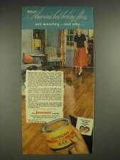 1948 Johnson's Paste Wax Ad - Best-Looking Floors