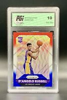 ❤️2015 Panini Prizm Red/White/Blue #322 D'Angelo Russell PGI 10 GEM MT Low Pop!