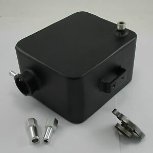 BLACK Aluminum Alcohol Methanol Overflow Coolant Tank Reservoir Mustang Camaro