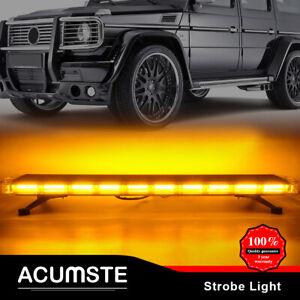 54LED Emergency Traffic Advisor Double Side Warning Strobe Light Bar Amber Lamp