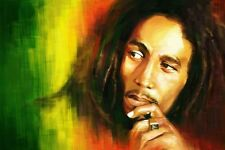 Bob Marley Rasta in/outdoor Vinyl Bumper Sticker Decal Hippie Rock n Roll 3.25""