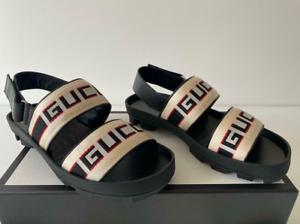 Gucci Mens Poppy Beige Sport Sandals Size 9