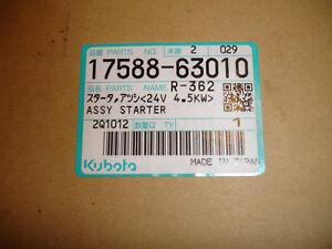 New OEM Genuine 4.5kw Kubota 24V 24 Volt Starter Motor 17588-63010  1758863010