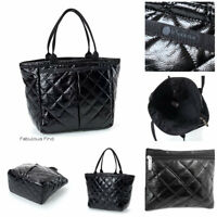 LeSportsac Black Crinkle Quilted Patent Small EveryGirl Tote Bag + Cosmetic Bag