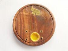 Elefante in legno in ottone intarsio incenso titolare Ash Catcher pagane insence inscense