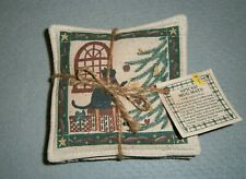 New! Vintage 1990s Spiced Mug Mats by Alice'S Cottage ~ Cats & Christmas Trees