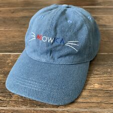 New listing Meowica Hat Adjustable America Cat Patriotic 100% Cotton Fourth of July Usa