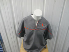 VINTAGE NIKE UM MIAMI HURRICANES BASEBALL TEAM ISSUED MEDIUM WARM-UP SEWN SHIRT