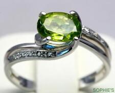 Peridot White Gold 14k Engagement Rings