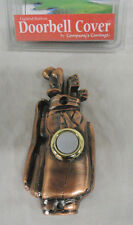COMPANYS COMING, BRONZE PLATED GOLF BAG LIGHTED BUTTON DOORBELL COVER, FREE SHIP