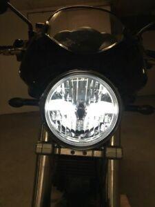 Clear Glass LED Headlight Black Ducati Monster 700 750 800 900 Black Headlight
