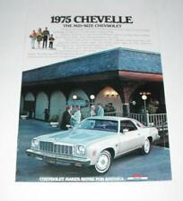 1975 CHEVROLET CHEVELLE MALIBU LAGUNA S3 ORIGINAL DEALER SHOWROOM SALES BROCHURE