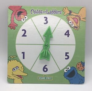 Sesame Street Chutes And Ladders Board Game Replacement Piece Part Spinner Only
