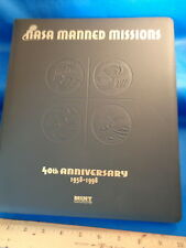 NASA MANNED MISSIONS - 40th ANNIVERSARY SET w/ BINDER - 1999 MINTCARDS (96) CRDS