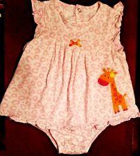 Carters-Girls-Size 24 Months-2T-Giraffe-Pink Cheetah Summer Romper Dress-Outfit